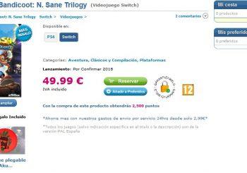 Rumor: Spanish Retailer Lists Crash Bandicoot N. Sane Trilogy For Nintendo Switch
