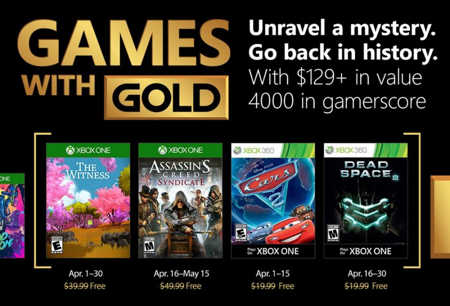 Microsoft Reveals Xbox Games with Gold Lineup For April 2018