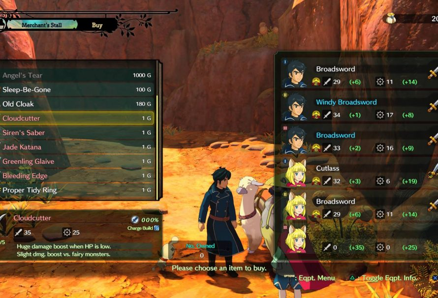 Ni no Kuni 2 Guide – How to access the Special Swords Set DLC
