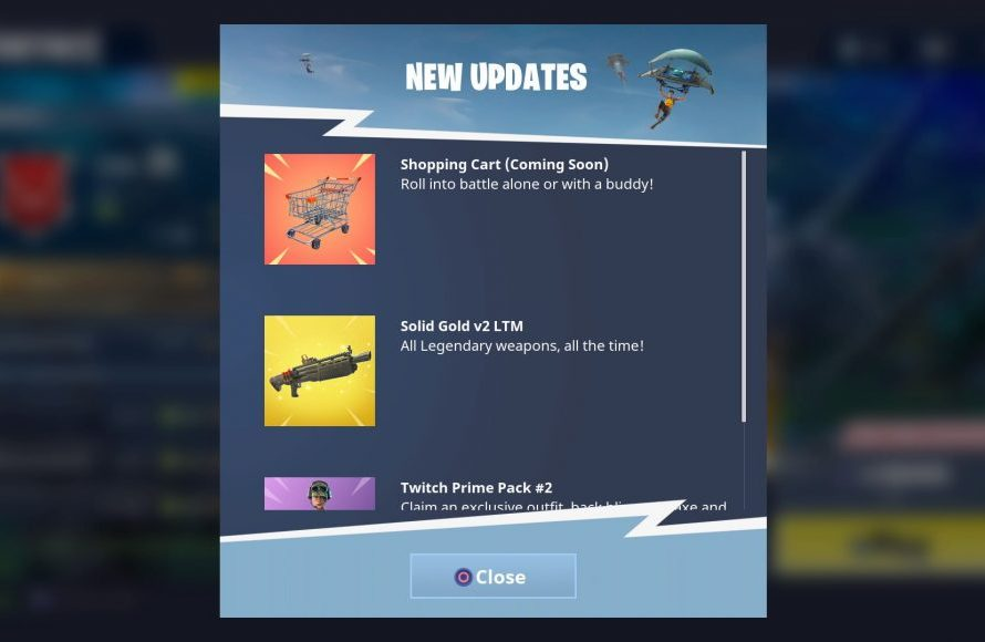 Epic Games Now Adding Shopping Carts To Fortnite