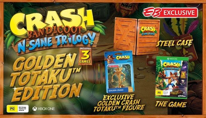 eb games australia announces exclusive crash bandicoot n sane