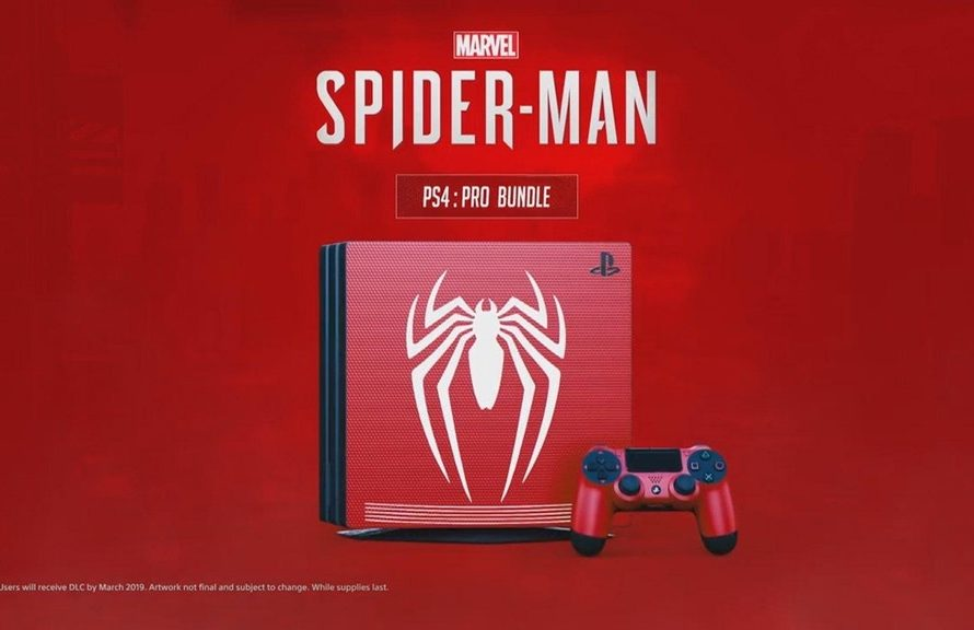 spiderman ps4 pro console