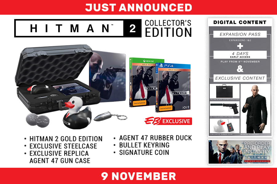 Hitman 2 Collector S Edition Has Been Revealed By Eb Games Just