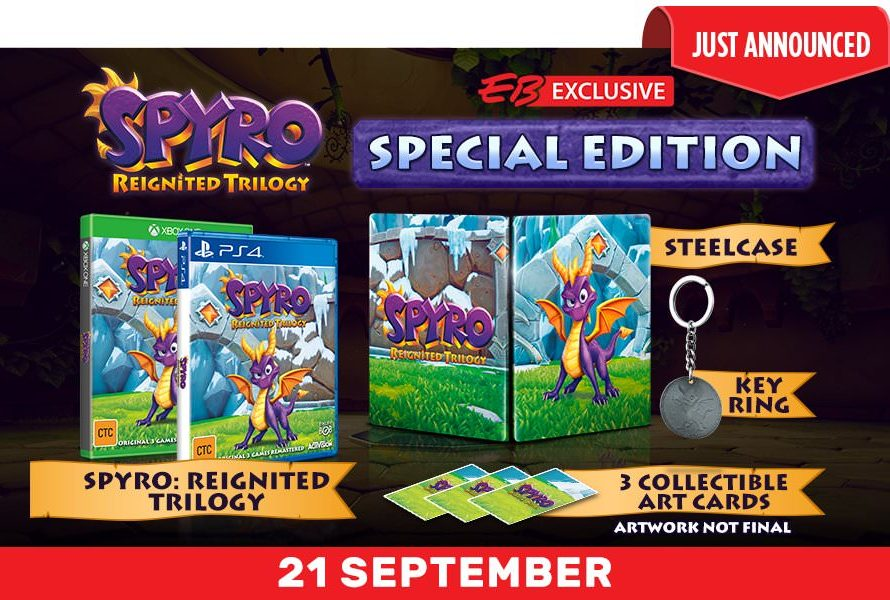 Spyro: Reignited Trilogy Special Edition Announced By EB Games