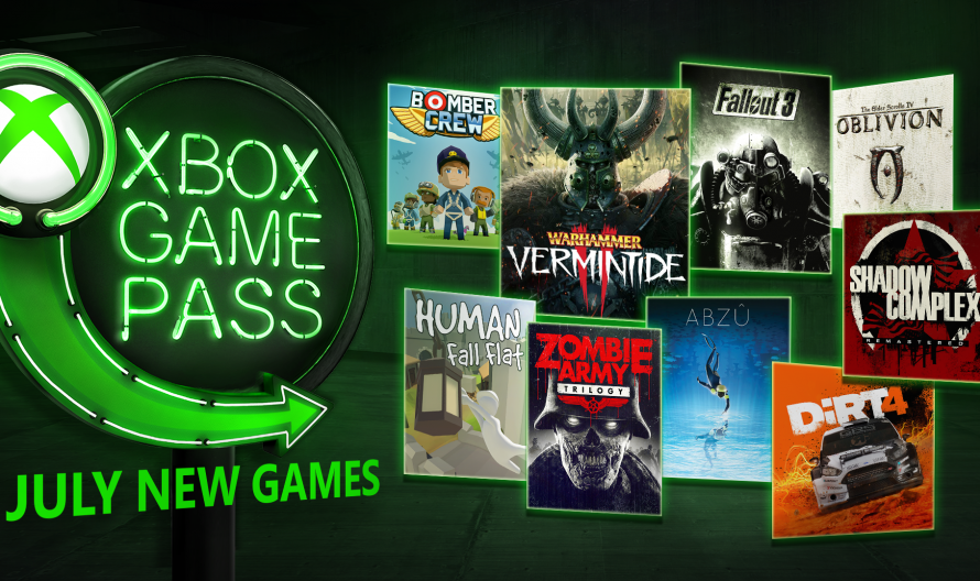 Microsoft Reveals Xbox Game Pass Titles Available In July 2018