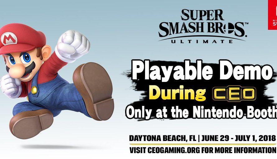 Super Smash Bros. Ultimate Has A Playable Demo At CEO 2018