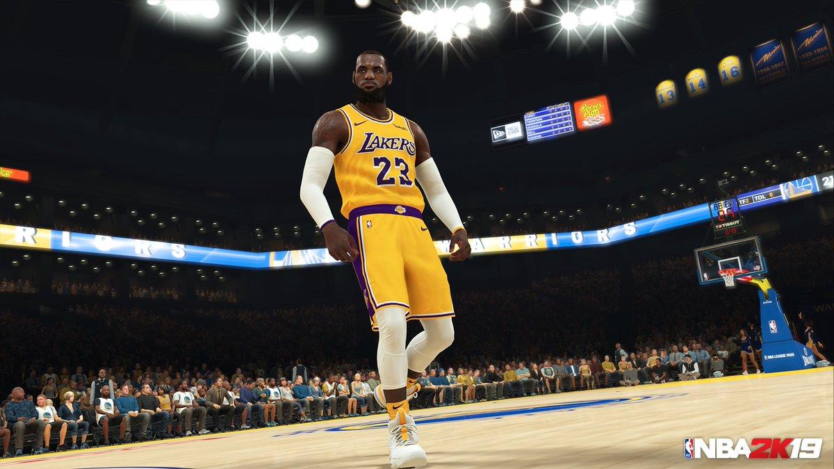 a33ebf0558e New NBA 2K19 Screenshot Shows LeBron James In LA Lakers Gear - Just ...