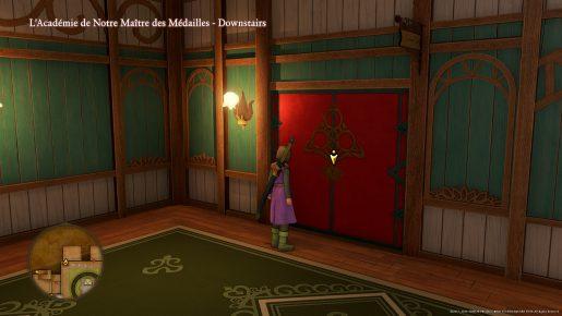 Dragon Quest XI Red Door - L'Academie De Notre Maitre des Medailles
