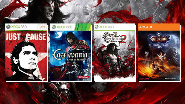 Castlevania: Lords of Shadow 1 & 2, Mirror of Fate, and Just Cause are now backwards compatible for Xbox One
