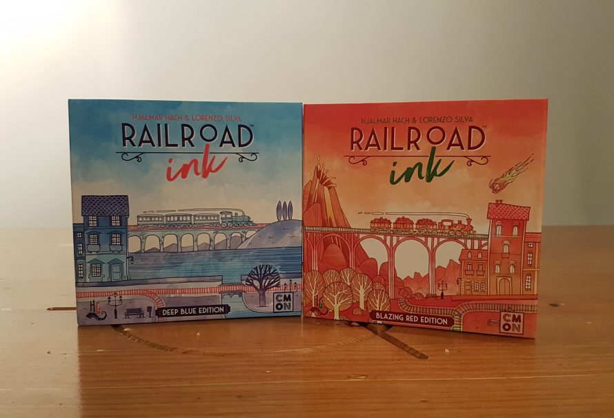 Railroad Ink Deep Blue Edition and Blazing Red Edition Review