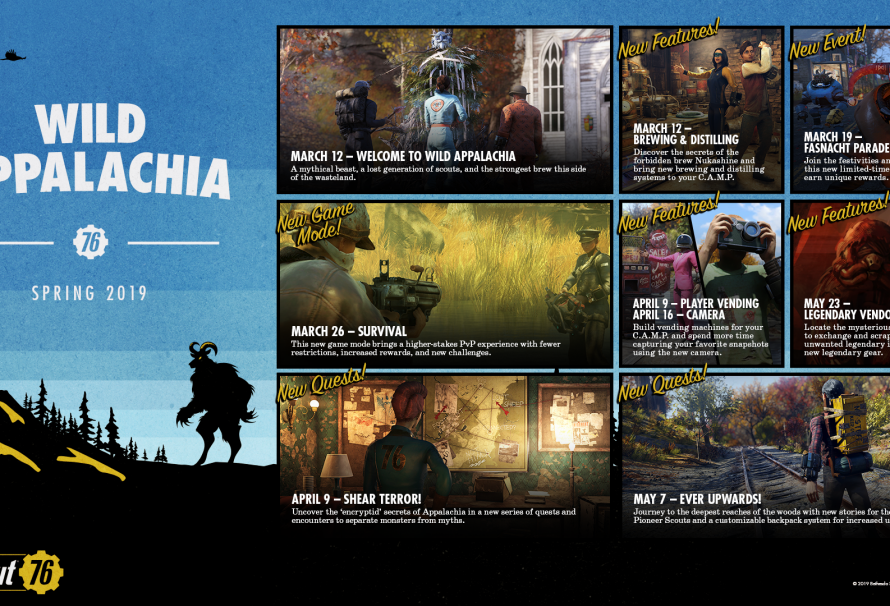 Fallout 76 Wild Appalachia content launches Spring 2019; RoadMap detailed