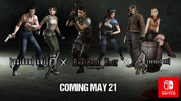 Resident Evil 0, 1, and 4 coming to Switch on May 21