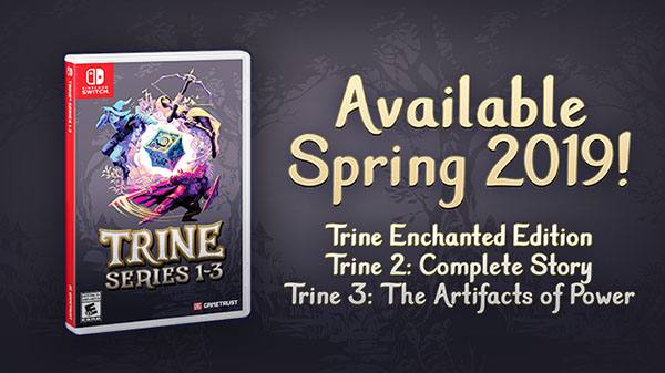 Trine 2: Complete Story launches February 18 for Switch; Trine Series getting physical version this Spring
