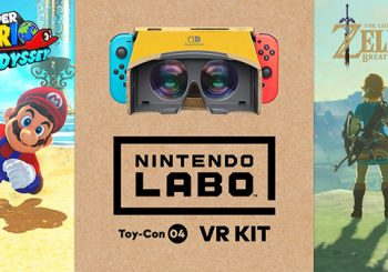 Super Mario Odyssey and The Legend of Zelda Breath of the Wild are compatible with the Nintendo Labo VR