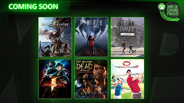 Six more titles coming to the Xbox Game Pass in April