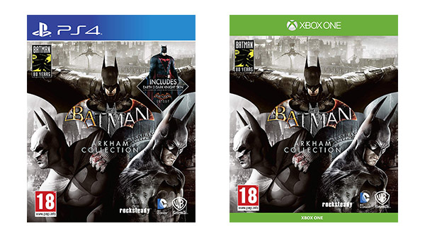 Batman Arkham Collection for Xbox One and PS4 listed by Amazon UK