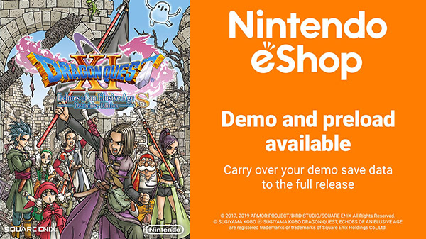 Dragon Quest XI S demo now live