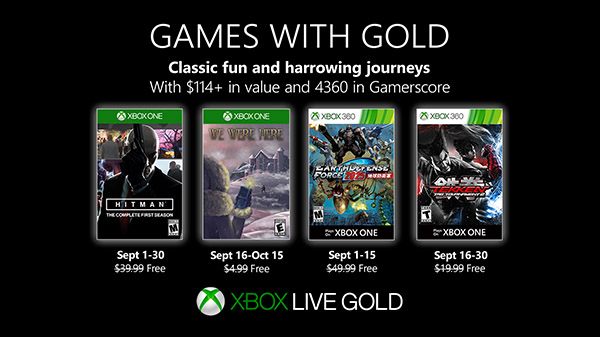 Xbox Live Games with Gold for September 2019 Announced; Includes Tekken Tag Tournament 2 and More