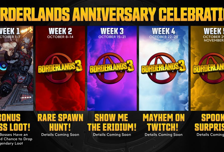 Borderlands celebrates 10 years with weekly events