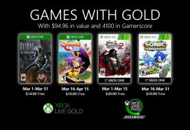 Xbox Games With Gold March 2020 List Revealed