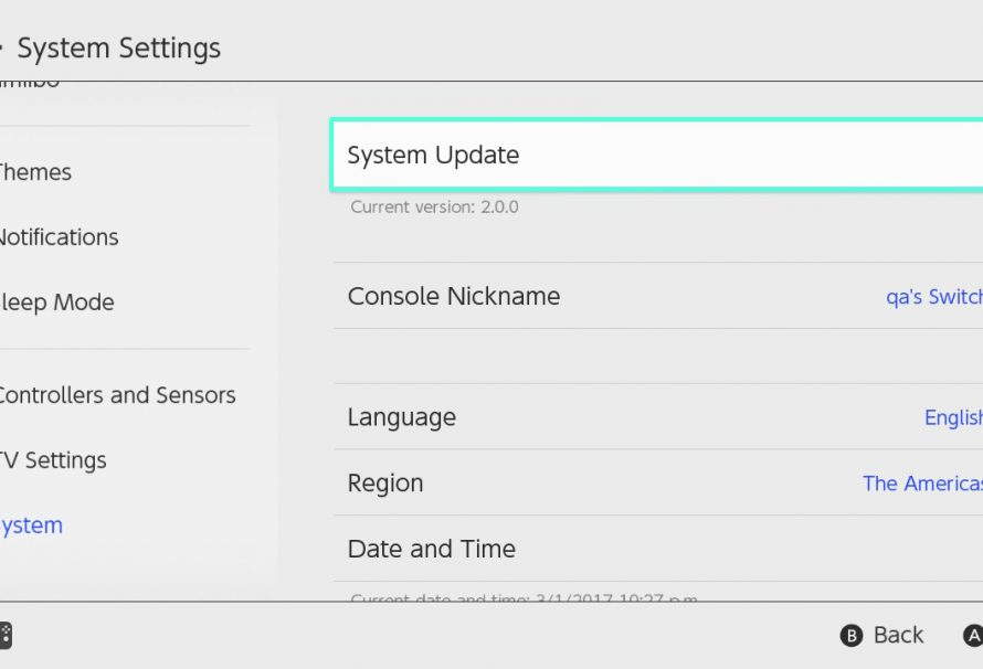 Switch System Update 10.0.0 now available for download