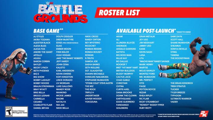 The Full WWE 2K Battlegrounds Roster Has Been Revealed