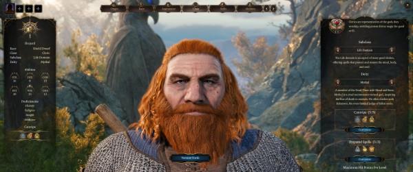 Baldur's Gate III early Dwarf