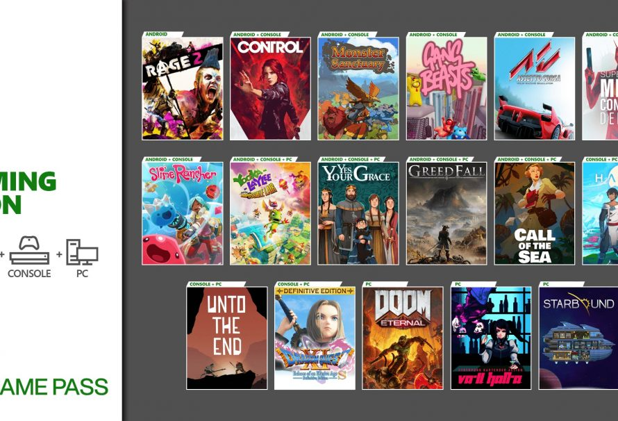 Xbox Game Pass getting Control, Dragon Quest XI S, and more this December