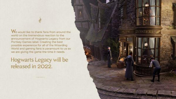 Hogwarts Legacy delayed until 2022