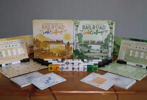 Railroad Ink Challenge Lush Green & Shining Yellow Review